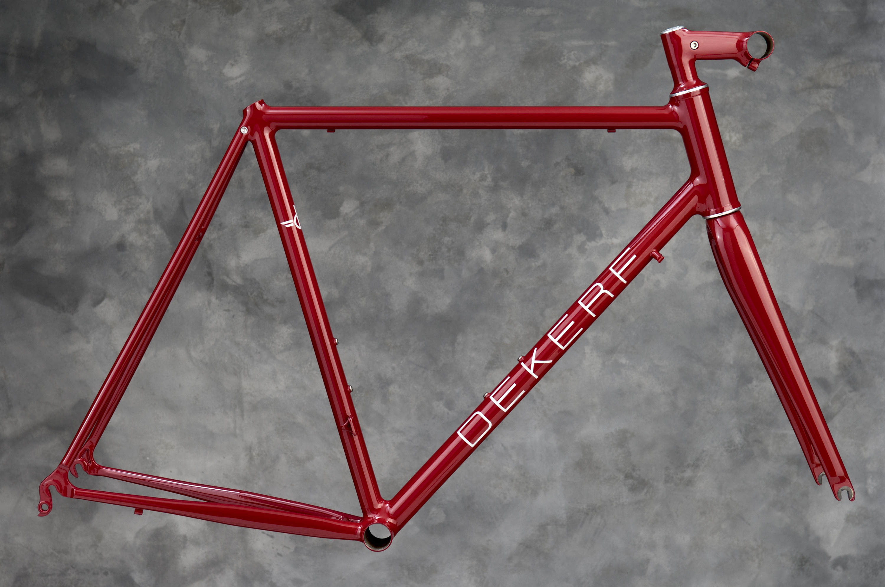 Red Fillet Brazed Road Bike with Custom Stem
